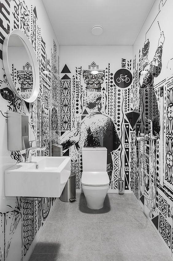 Baños en blanco y negro muy especiales