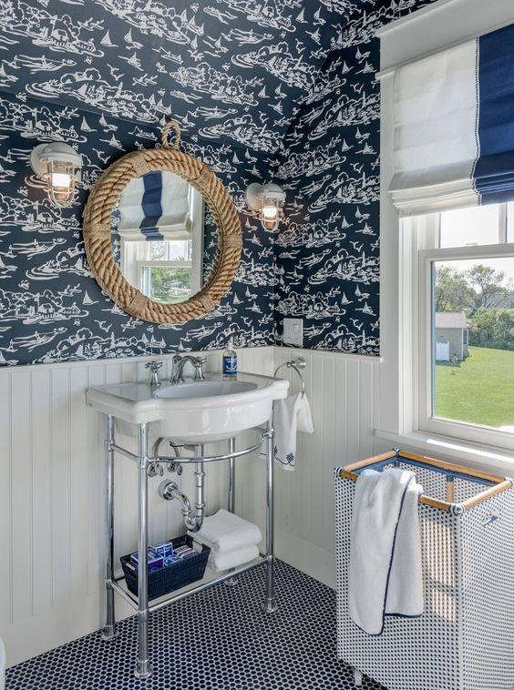 Sailor style bathrooms