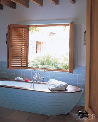 Original baño de estilo marinero