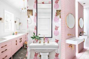 ¿Te atreverías con un baño rosa? 21 Baños de color rosa que te van a encantar