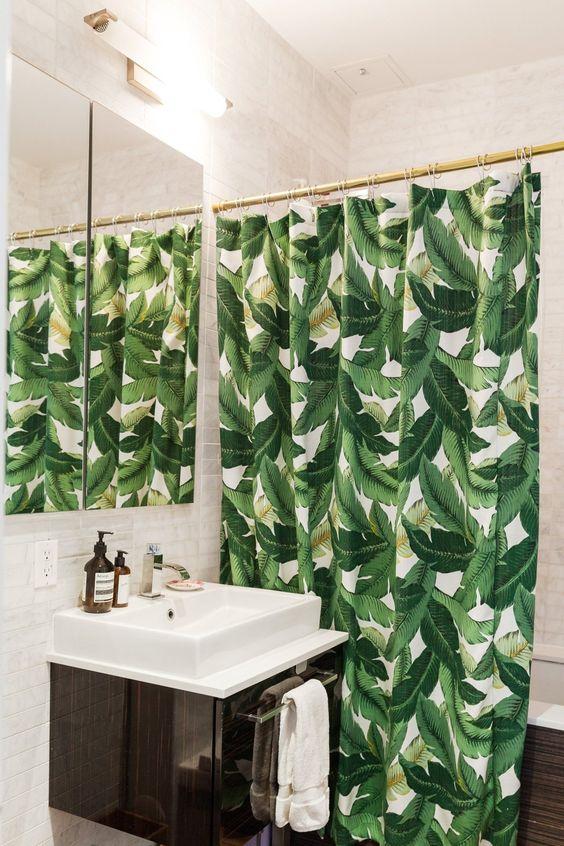 Decoración tropical también en el baño. Decoración hogar ...