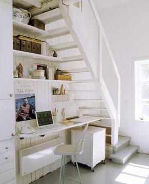 Zona de trabajo en el hueco de la escalera