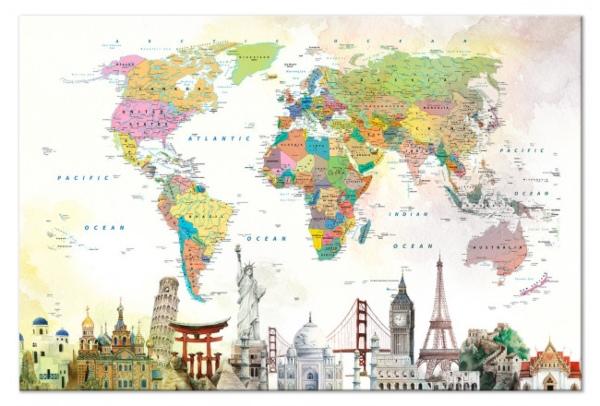 Cuadro mapamundi de Bimago