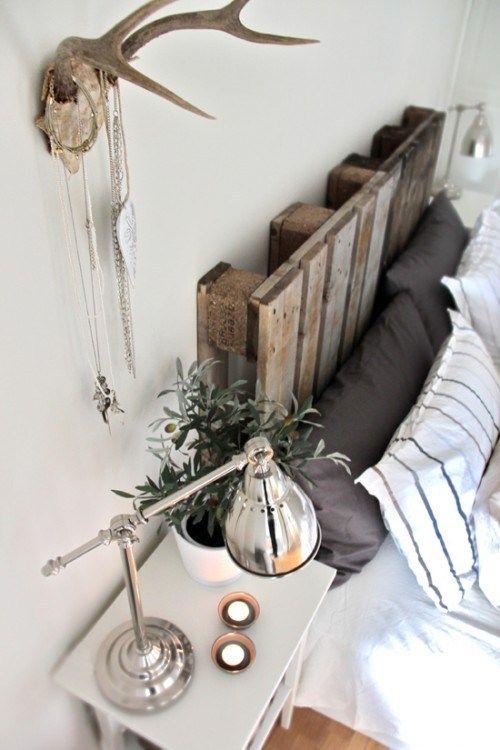 Cabeceros de cama con palets