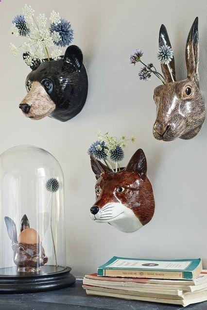 Cabezas animales decoración