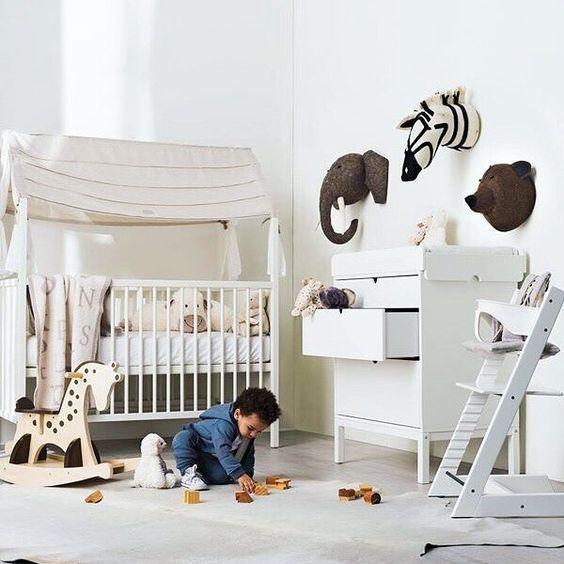 Cabezas de animales de Peluche para habitaciones infantiles