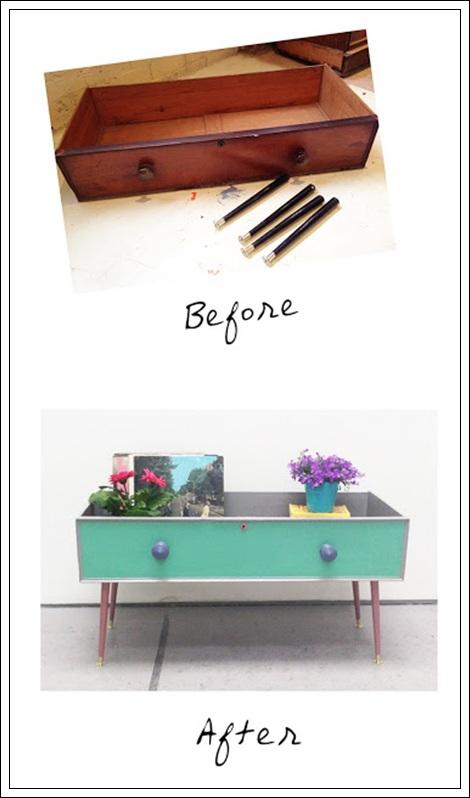 Antes y después de un cajón
