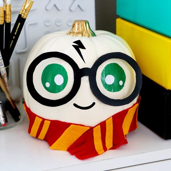 Decoración calabaza Harry Potter