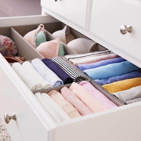 Consejos para colocar la ropa en el armario