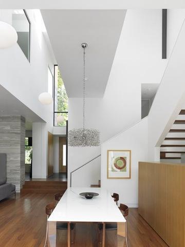Casas modernas blanco y madera - Recibidores de casas modernas ...