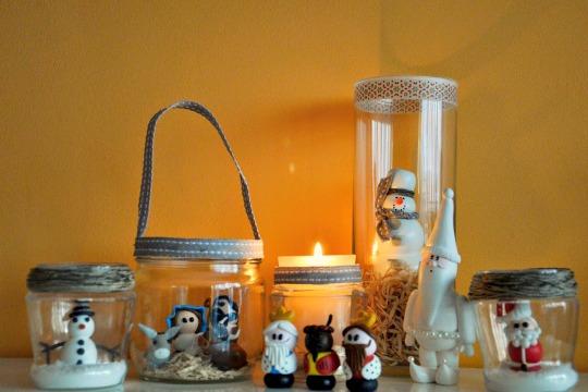 Centro de mesa creativo para decorar en Navidad