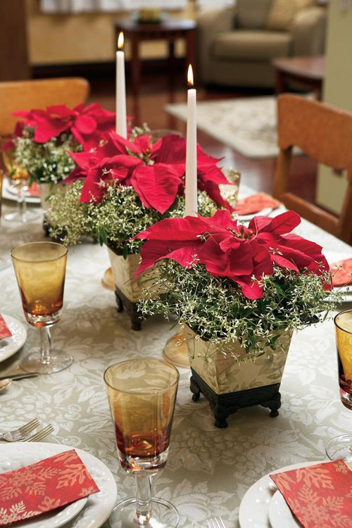 Los mejores centros de flores para Navidad