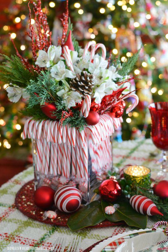 Centros florales graciosos de navidad