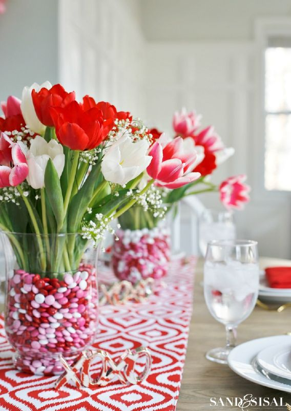 centros de mesa San Valentín
