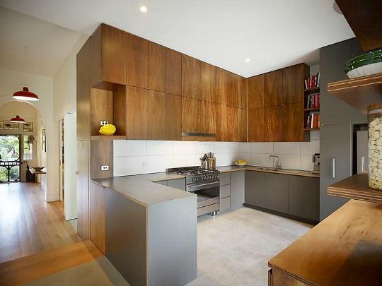 cocina abierta al pasillo