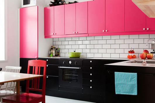 Cocina a dos colores - Cocinas con colores vivos ...