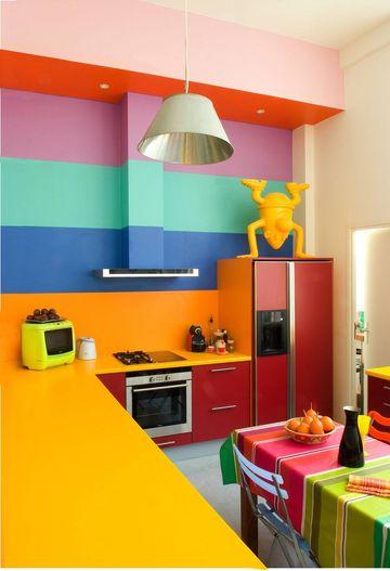 Decorar la cocina a todo color