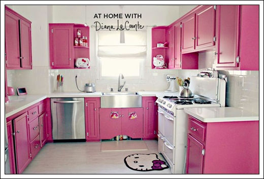 Cocina rosa hello kitty - Cortinas de hello kitty ...