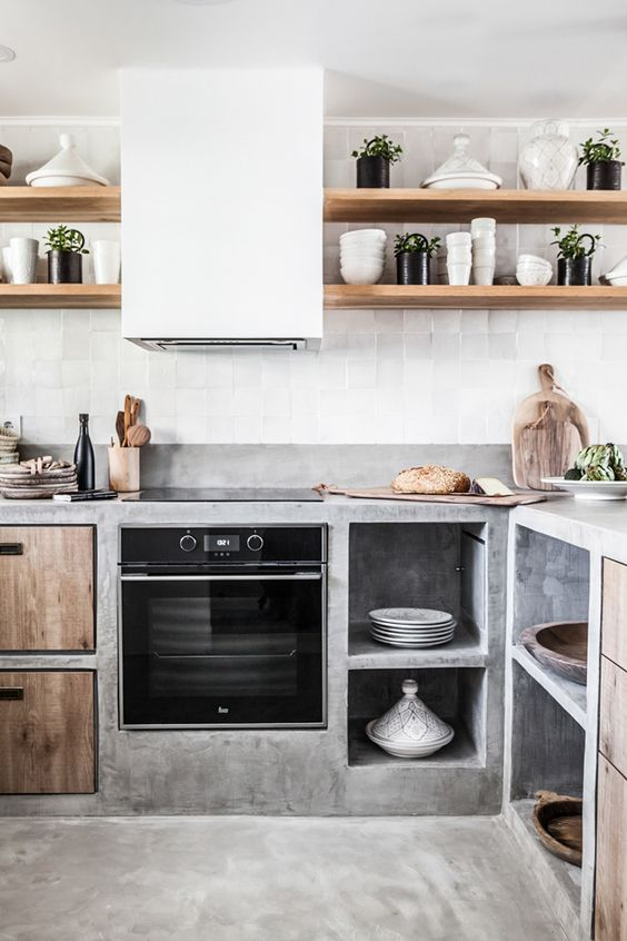 Cocina rústica obra
