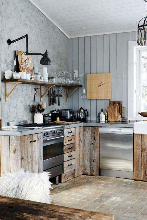 Muebles de cocina con palets