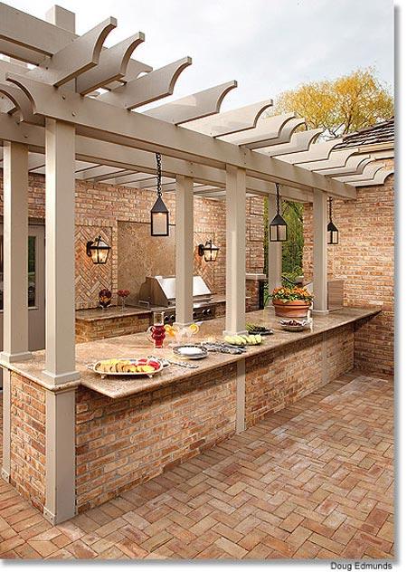 Cocinas de exterior inspiraci n for Cocinas para jardin