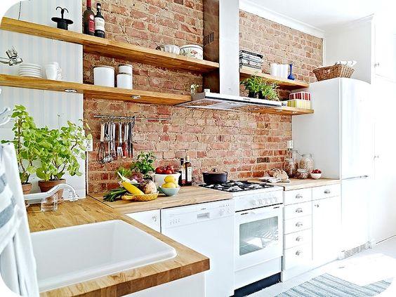 10 cocinas con ladrillo visto decoraci n hogar - Cocina de ladrillo ...