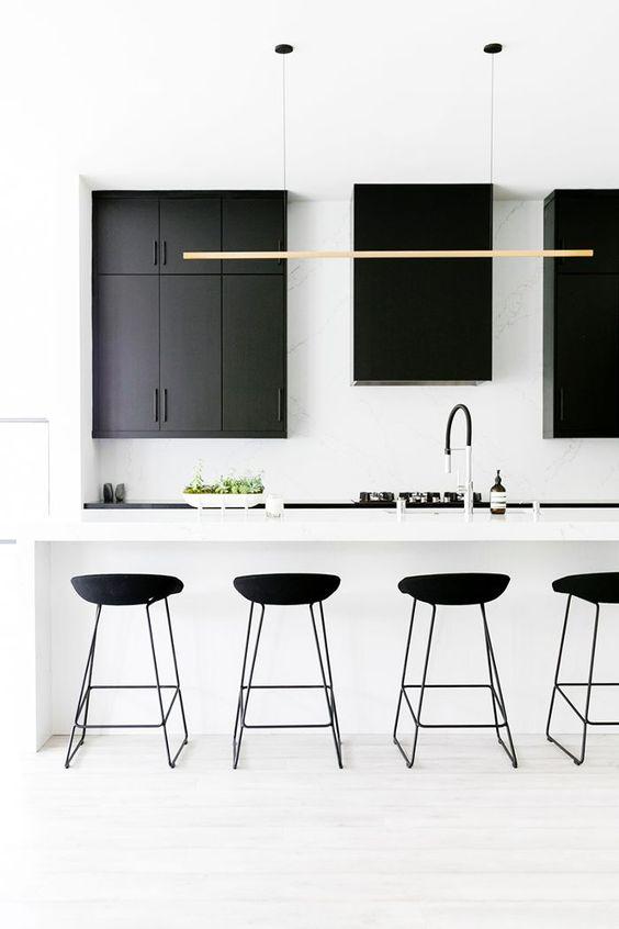 Cocinas minimalistas con isla