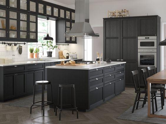 Cocinas negras Ikea