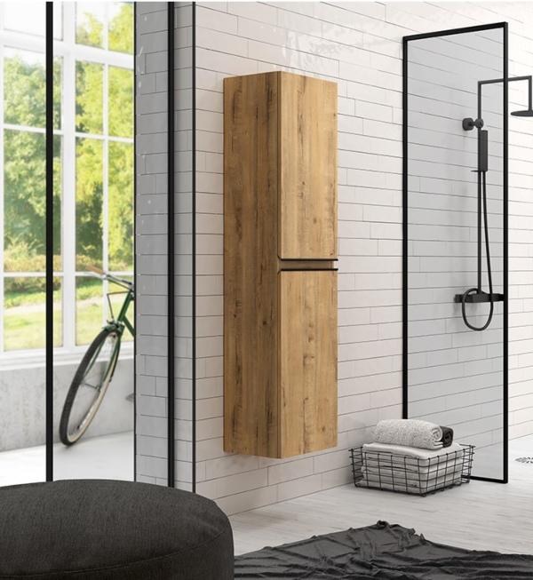 Columna de baño madera