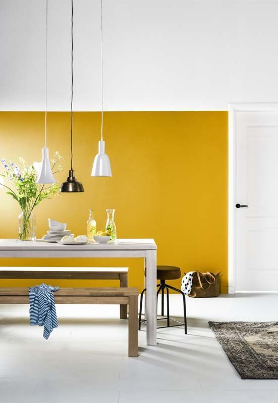Comedor amarillo mostaza