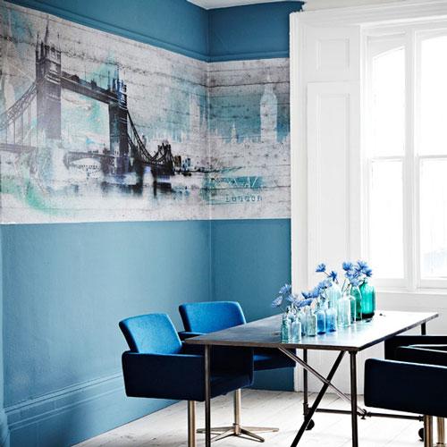 Comedores decorados en azul