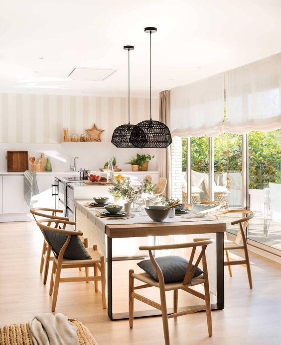 ¿Cuánto espacio necesita una mesa de comedor?