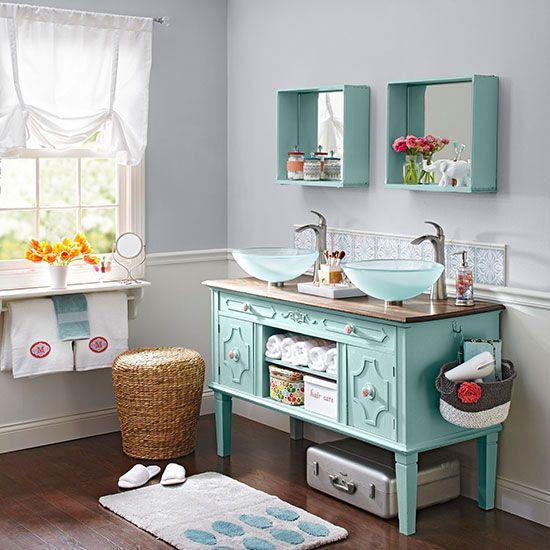 Cómo convertir una cómoda en mueble de baño