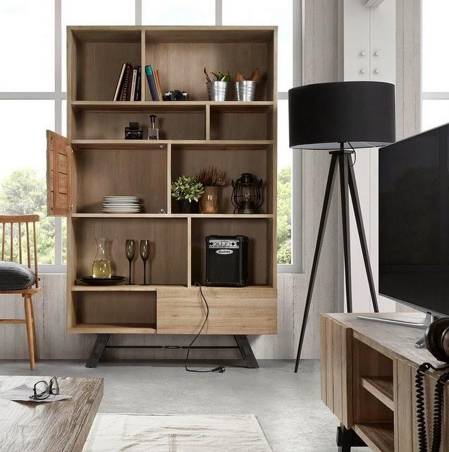 Composición de muebles colgados.