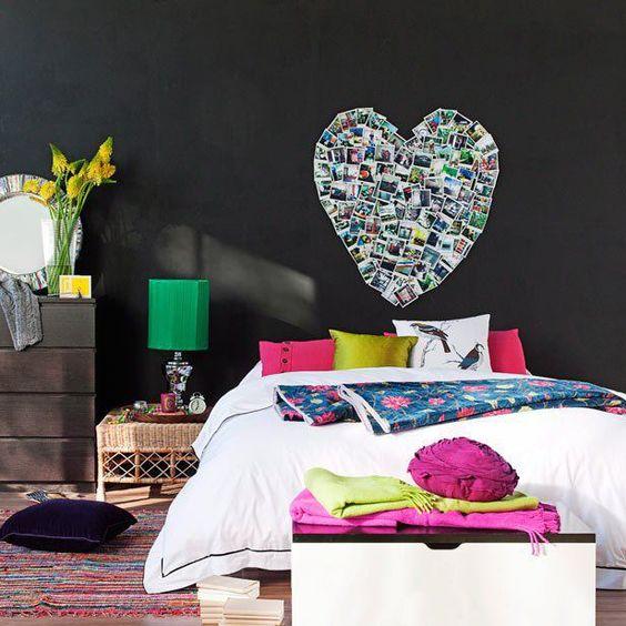 Decorar con corazones el dormitorio