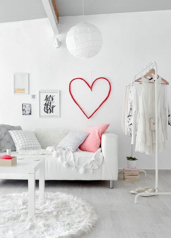Ideas para decorar con corazones las habitaciones infantiles