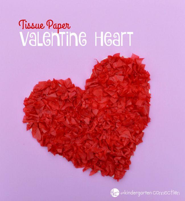 Manualidades de papel de seda para San Valentín