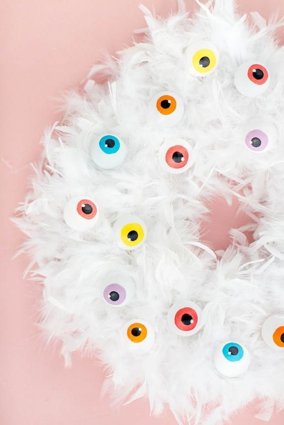 Coronas de Halloween ideales para hogares con niños