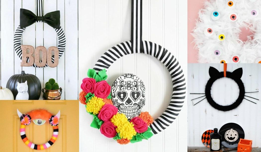 Coronas de Halloween que puedes hacer en casa - Manualidades Ideas