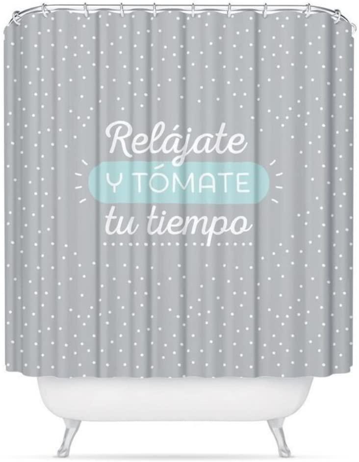 Cortina ducha mensaje