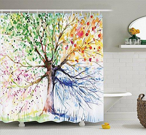 Cortinas de ducha originales: árbol