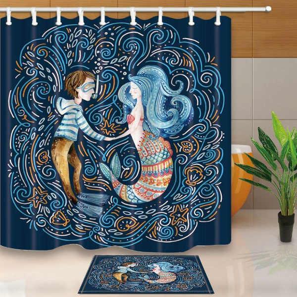Cortinas de ducha originales: sirena