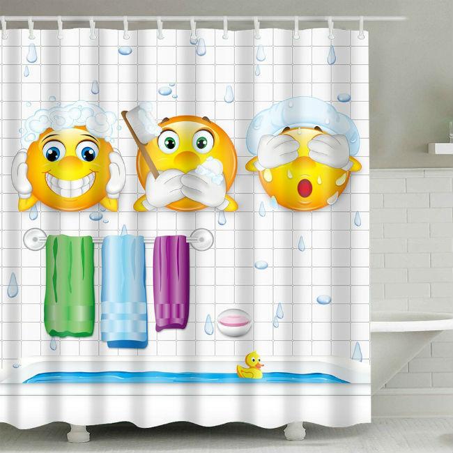 Cortinas de baño divertidas