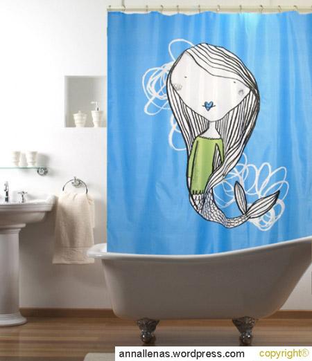 9 cortinas de ducha originales que transformar n tu ba o - Cortinas bano originales ...