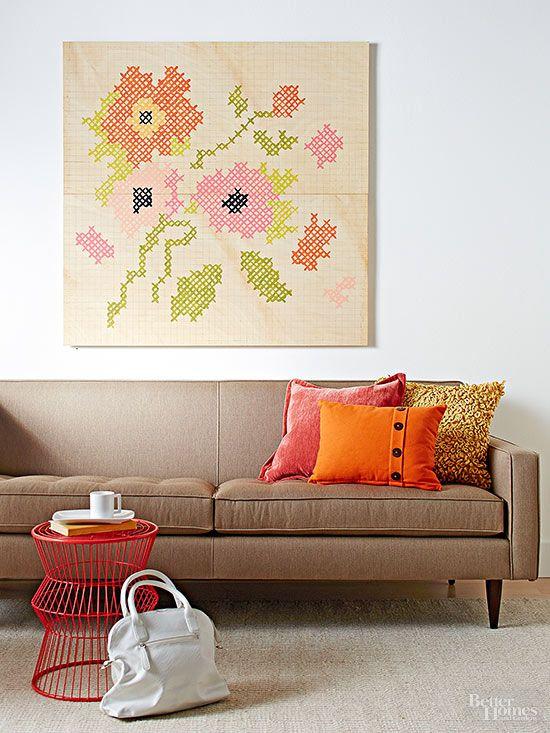 Decora tus paredes con obras de arte caseras