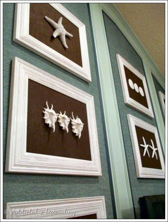 Cuadros de conchas marinas decoraci n hogar for Elementos decorativos para el hogar