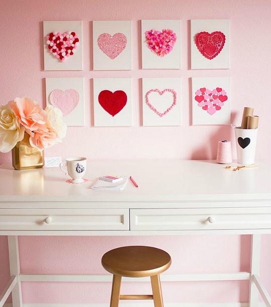 Hazlo t mismo colecci n de corazones - Cuadros decorativos para habitaciones ...