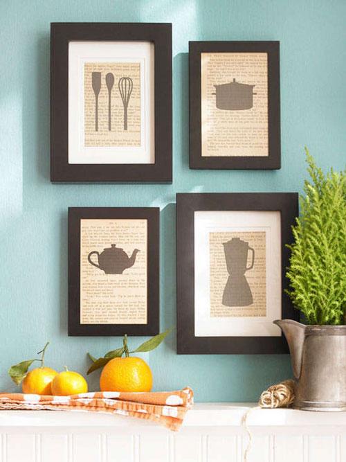cuadros hechos a mano para la cocina