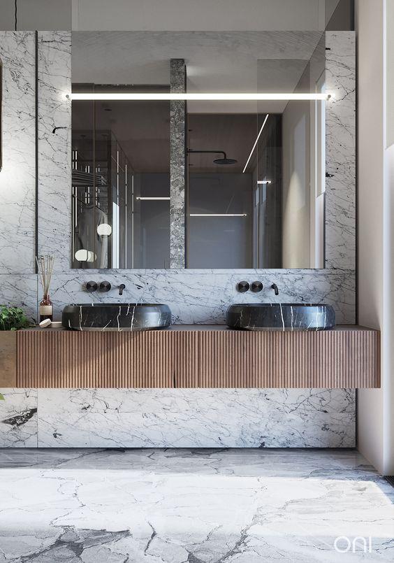 Tendencias cuartos de baño 2020 piedras naturales