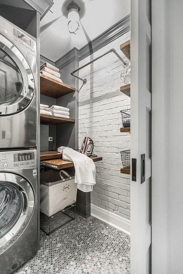 Cuartos de lavado y plancha súper prácticos
